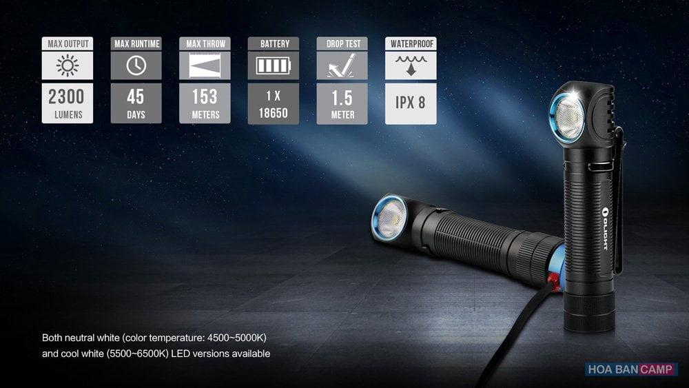 Pin Olight 18650 ORB-186C30 - 3000mAh (Dành Cho H2R Nova)
