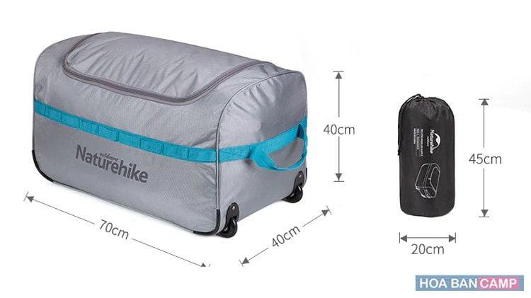 Túi đựng đồ dã ngoại, du lịch gấp gọn NatureHike NH18X027-L